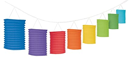amazon com accordion style paper lantern garlands multicolored