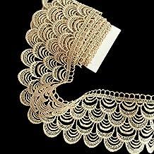 2 meters Sew Beige Lace Ribbon Trim Guipure 75mm width , Craft Scrapbooking Decoration