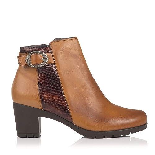 PITILLOS 3823 Botin Piel Hebilla Tacon Mujer: Amazon.es: Zapatos y complementos