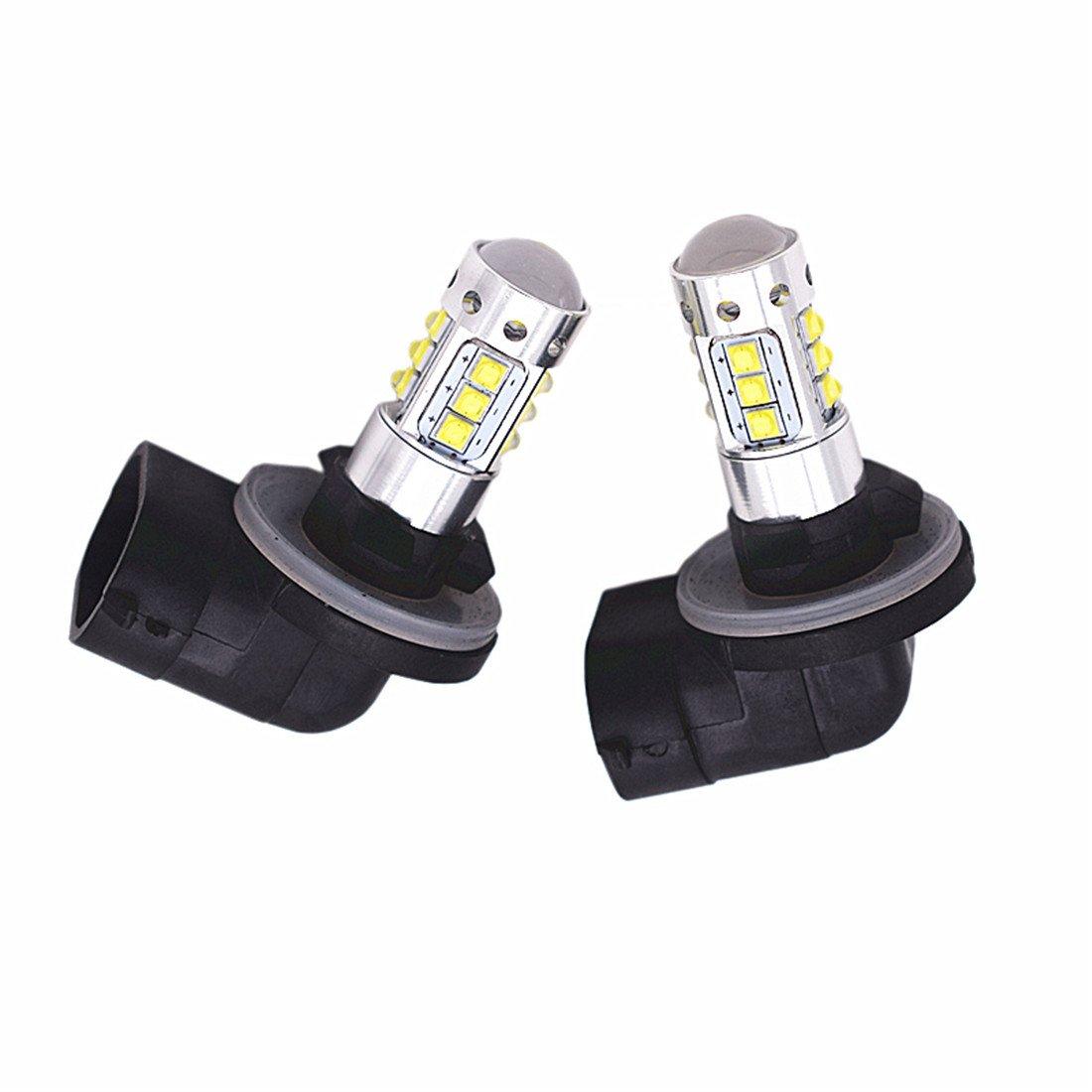 FEZZ 881 H27 Headlight LED Bulbs 80W XBD Head Lamps Driving Fog Lights Daytime Running DRL (Pack of 2) FZ0314