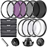 67 mm nd filter kit - Neewer 67MM Complete Lens Filter Accessory Kit for Lenses with 67MM Filter Size: UV CPL FLD Filter Set + Macro Close Up Set (+1 +2 +4 +10) + ND Filter Set (ND2 ND4 ND8) + Other