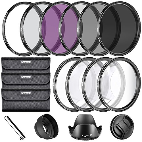 Neewer 67MM Complete Lens Filter Accessory Kit for Lenses