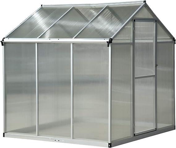 Outsunny - Invernadero de jardín para plantas, techo abatible y ...
