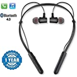 SHOPTOSHOP TM B11 Bluetooth Wireless Headphones Sport Stereo Headsets Hands-Free with Microphone and Neckband for Android and Apple Devices (Multi Colored) (Medium)