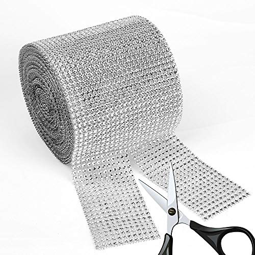 BEARHORN Diamond Rhinestone Mesh Ribbon, Wedding Ribbon, Cake Ribbon, Vase Decorations, Party Supplies 4.75