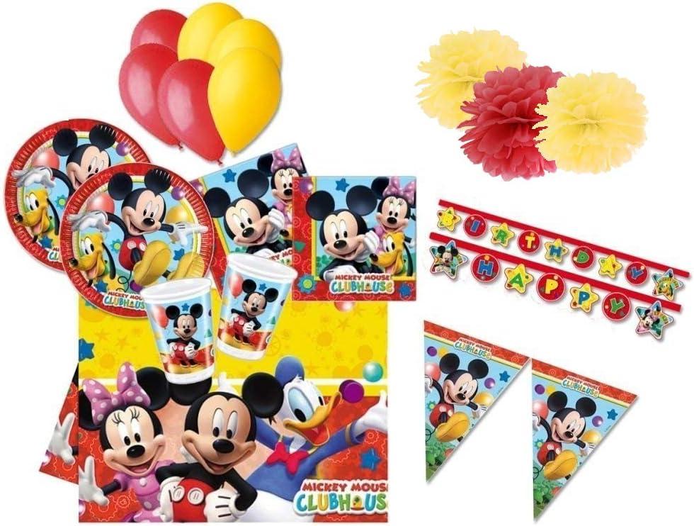 DECORATA PARTY Juego de Mesa para cumpleaños Mickey Mouse Kit ...