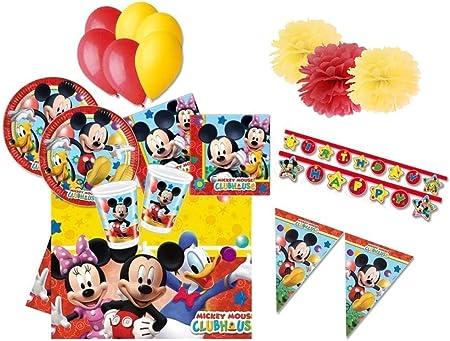 DECORATA PARTY Juego de Mesa para cumpleaños Mickey Mouse Kit 46fba: Amazon.es: Juguetes y juegos