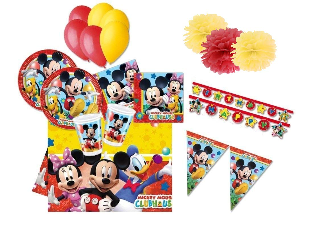 DECORATA PARTY Coordinato tavola per Compleanno Topolino Mickey Mouse Kit 46fba