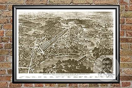 Amazon.com: Ted's Vintage Art Philadelphia Pennsylvania 1876 ... on map of phila transportation, map of phila airport, map of phila restaurants,