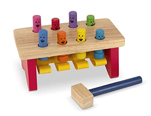 Melissa & Doug 14490 Deluxe Pounding Bench Wooden Toy With Mallet
