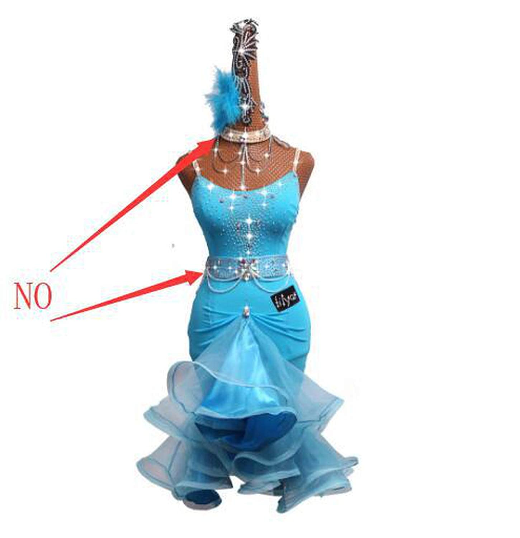 Only Lce bluee Skirt Fepsan Rhinestone Latin Dance Dress for Women bluee Latin Dance Competition Dresses Female Dance Sexy Sling Fishbone Skirt