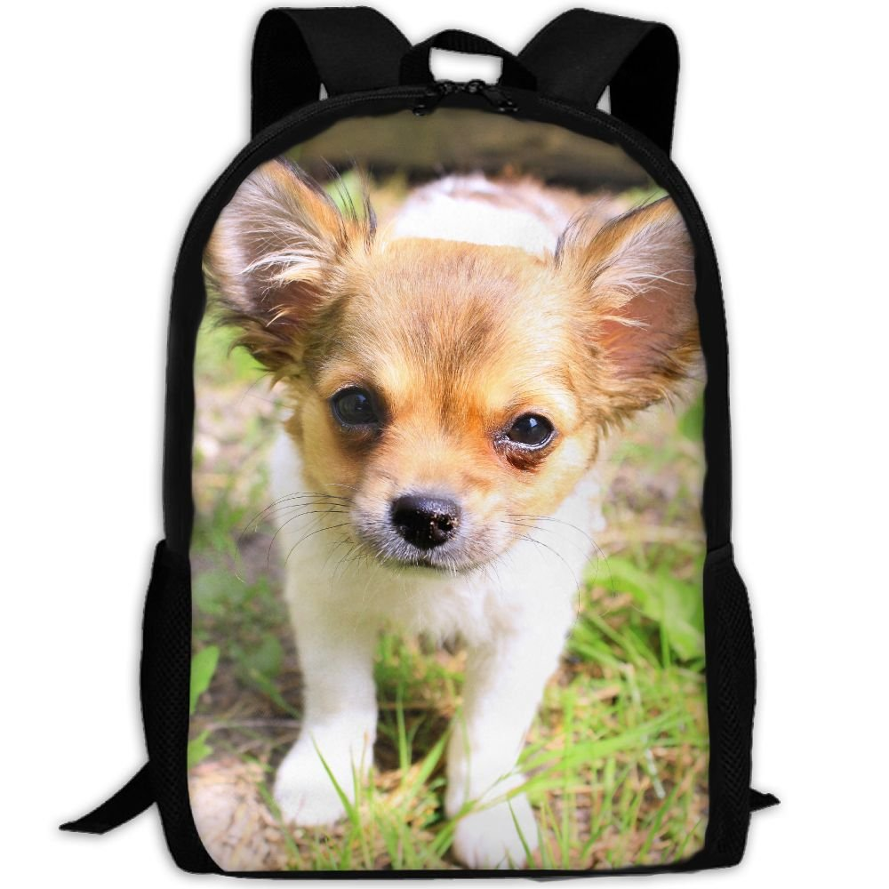 CY-STORE Cute Puppy Dog Animal Outdoor Shoulders Bag Fabric Backpack Multipurpose Daypacks For Adult