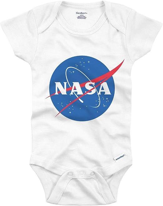 Future NASA Space Astronaut Black Soft Baby One Piece