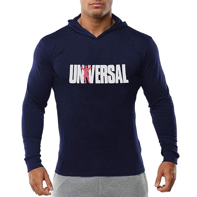Cabeen Hombre Bodybuilding Sudaderas Lightweight Manga Larga Camisetas para Fitness Jogging: Amazon.es: Ropa y accesorios
