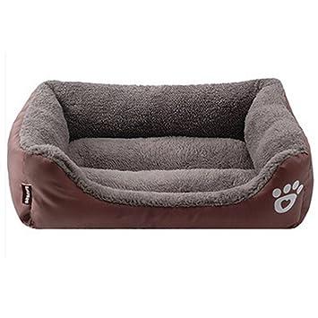 URIJK Camas de perro y cojines caseta mascota nido gato Pad impermeable colorido, café, Medium: Amazon.es: Hogar
