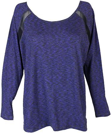 Ideology Womens Fleece Cowl Graphic T-Shirt