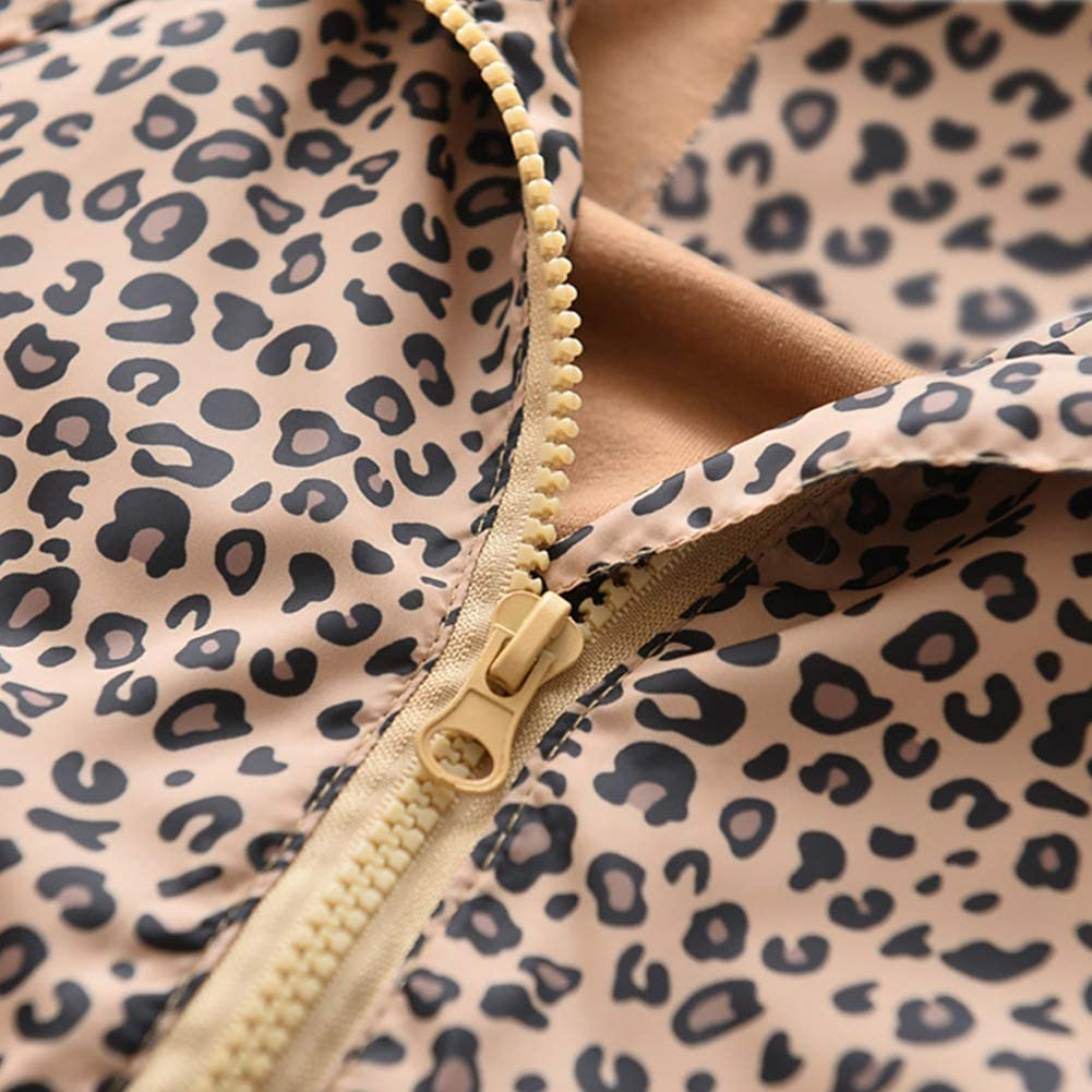 Leopard Print Jacket for Girl Boys Jacket Toddler Outerwear /& Coats Casual Windproof Jacket for Kids