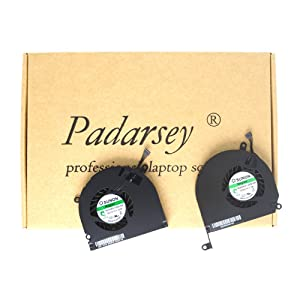 "Padarsey A1286 Left+Right Side CPU Cooling Fan Compatible for MacBook Pro 15"" 2008 2009 2010 2011 2012"