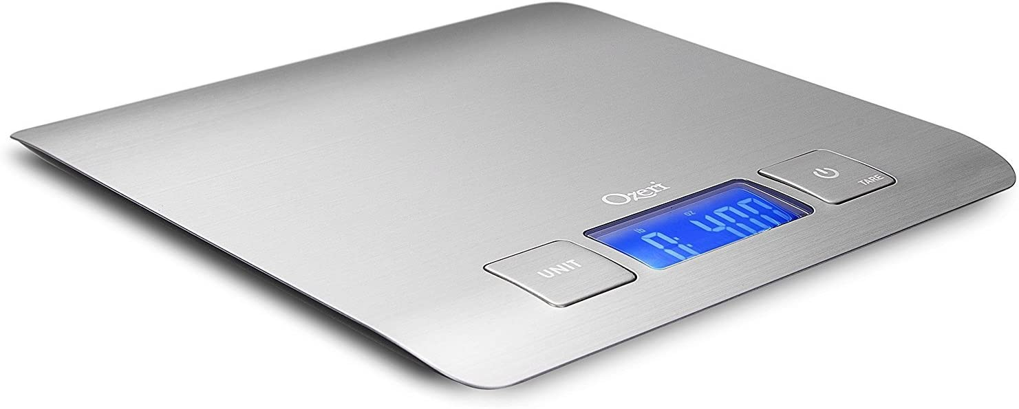 Amazon Com Zenith Digital Kitchen Scale By Ozeri In Refined Stainless Steel With Fingerprint Resistant Coating Food Scales Kitchen Dining