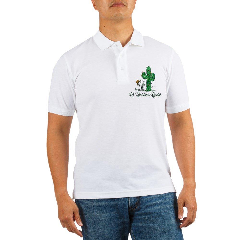 3916afa90 Amazon.com  CafePress - Peanuts Snoopy O Christmas Cactus Golf Shirt - Golf  Shirt