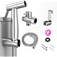 Handheld Toilet Bidet Sprayer, Stainless Steel Cloth Diaper Sprayer Kit with Hose for Baby Diaper Cloth Wash, Feminine…