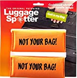 Luggage Spotter NOT YOUR BAG BRIGHT ORANGE Luggage Locator/Handle Grip/Luggage Grip/Travel Bag Tag/Luggage Handle Wrap (2 PACK) Luggage Wrap! Great Gift For Any Occasion!