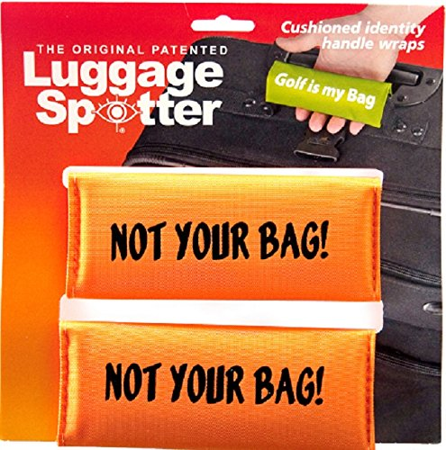 (Luggage Spotter BUY ONE GET ONE FREE NOT YOUR BAG BRIGHT ORANGE Luggage Locator/Handle Grip/Luggage Grip/Travel Bag Tag/Luggage Handle Wrap (2 PACK) – SELLING)