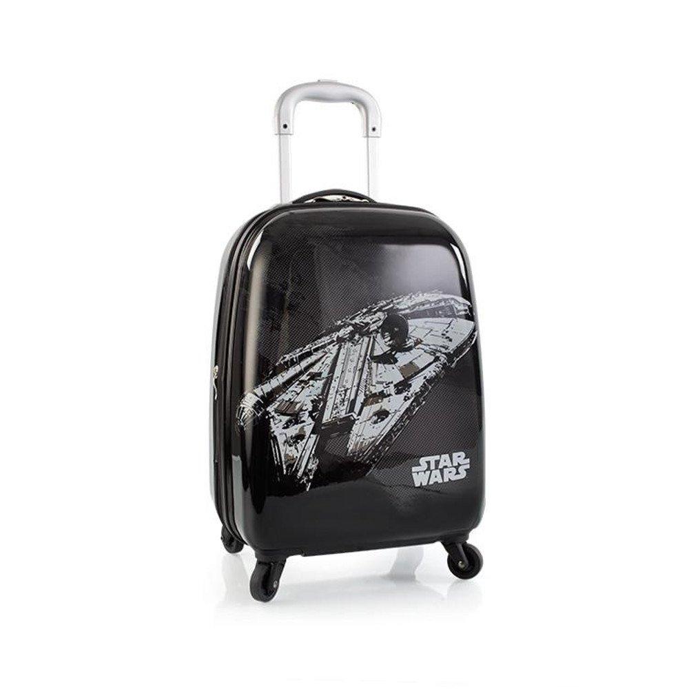 Star Wars Tween 21 Inch Hard Side Carry-on Spinner Luggage for Kids [Black]