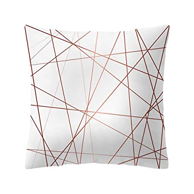Rose Gold Pink Cushion Cover Square Pillowcase Home Decoration, Square Throw Pillow Covers Cushion Case for Sofa Bedroom Car 18 x 18 Inch: Musical Instruments