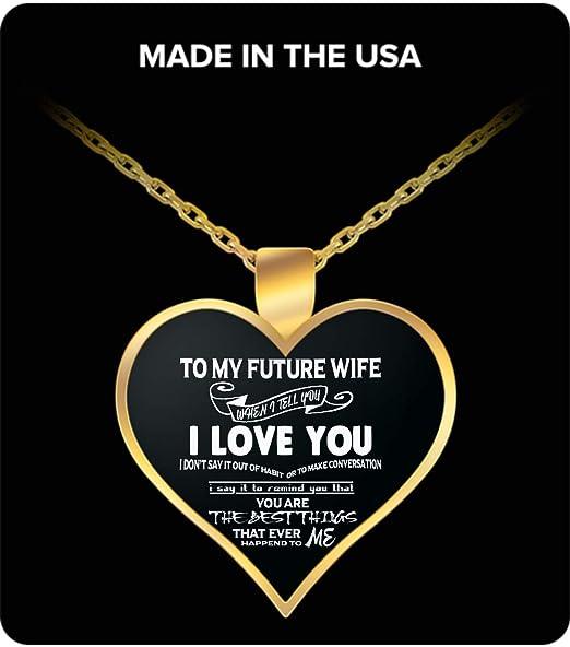 Vuvuzi Tee To My Future Wife Silver pendant necklace