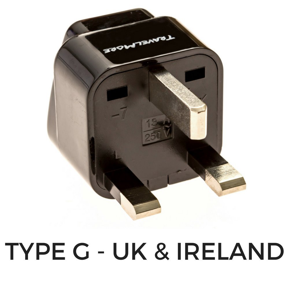 Type C, E, F, G J, L Italy Pack of 4 Universal Outlet Adapters for All of Europe Switzerland - Works in France Spain UK United Kingdom European Travel Adapter Plug Set Germany /& Turkey