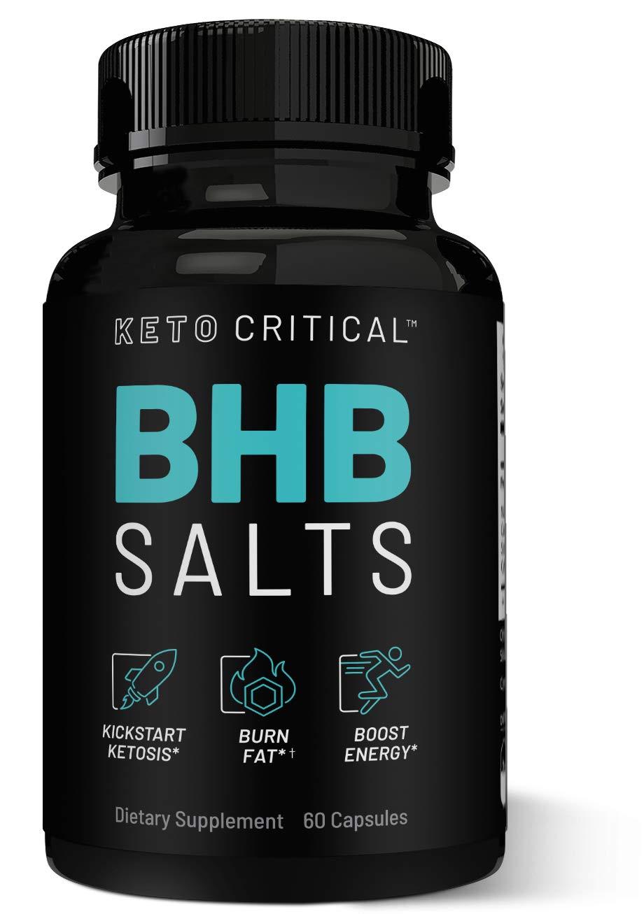 Keto Diet Pills Exogenous Ketones BHB Salts Beta-Hydroxybutyrate (800mg | 60 Capsules) Best Fat Burner & Weight Loss Supplement for Men and Women, Boost Energy & Metabolism