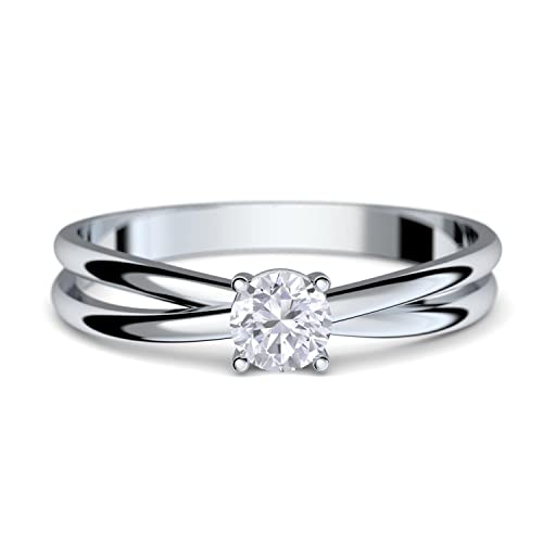 Verlobungsringe Weissgold Ring 333 Gratis Luxusetui Weissgold