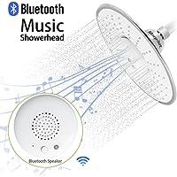 Morpilot Top Spray Rain Shower Head with Bluetooth Speaker