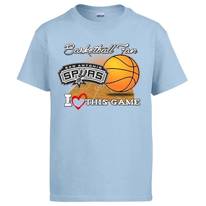 Camiseta NBA San Antonio Spurs Baloncesto Basketball fan I Love This Game: Amazon.es: Ropa y accesorios