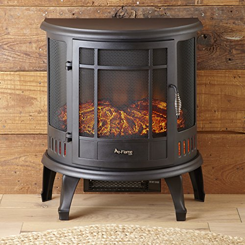 E-Flame USA Regal Portable Electric Fireplace Stove (Matte