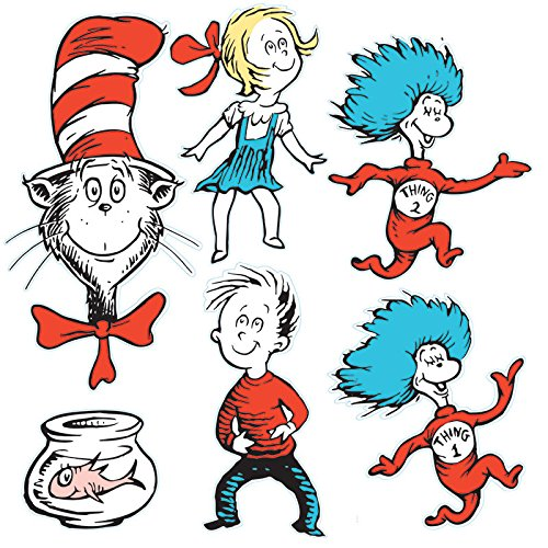 Eureka Back to School Dr. Seuss The Cat in The Hat Classroom Decorations for Teachers, 6pc ()
