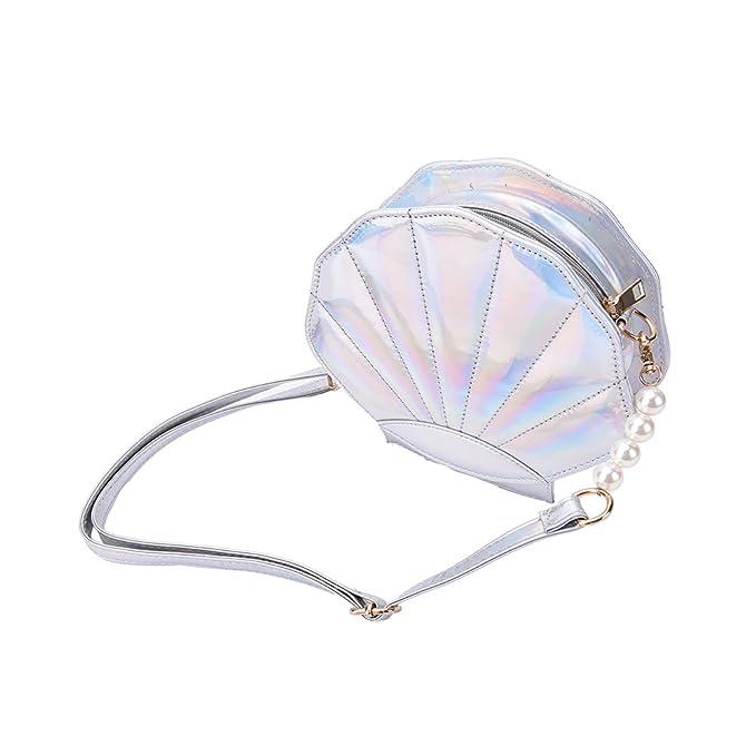 8fb3c5d4d9ef FANCY LOVE Unique Cute Shape Messenger Lolita Mini Shell Shoulder Handbag  for Women (Silver)