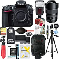 Nikon D810 36.3MP DSLR Camera with Tamron SP 15-30mm F/2.8 Ultra-Wide Angle Di VC USD Lens Accessory Bundle