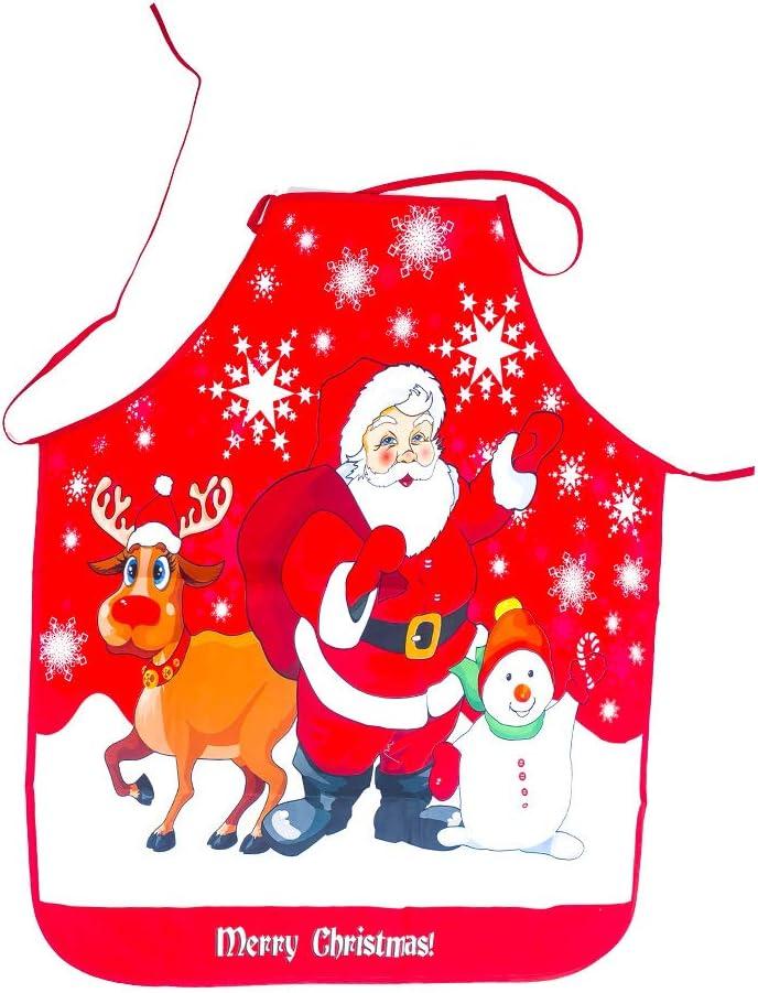 BJ-SHOP Navidad Delantal Adultos Delantal Navidad 1 Pieza el Adorabledelantal Navideño Puede ser un Buen Regalo para su Familia y Amigos para Navidad, Fiesta,Anfitriona o Inauguración de la Casa