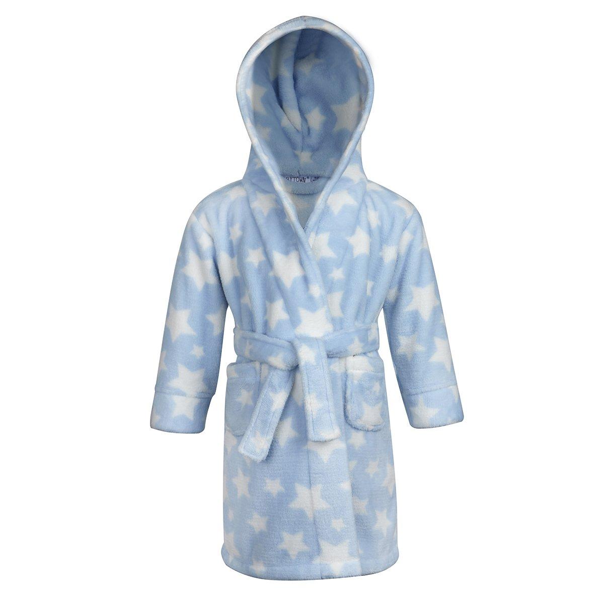 BABY TOWN Babytown Baby Boys and Girls Unisex Snuggle Fleece Hooded Lamb Dressing Robe