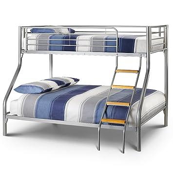 Happy Beds Bunk Bed Atlas Triple Sleeper Solid Metal With 2x Luxury