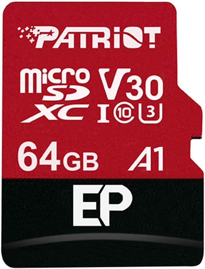 Micro SD 64GB Patriot A1 / V30 PEF64GEP31MCX