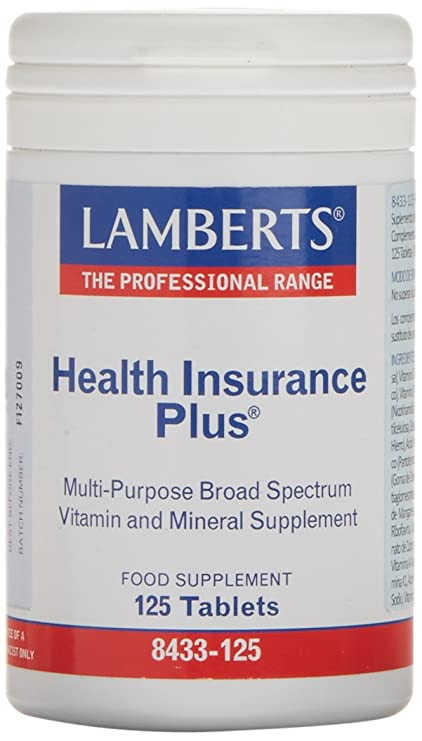 Lamberts Health Insurance Plus, Combinación de Multivitaminas - 125 Tabletas