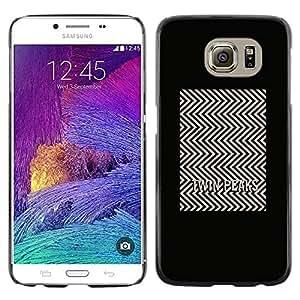 Paccase / SLIM PC / Aliminium Casa Carcasa Funda Case Cover para - Tv Series Pattern Minimalist White - Samsung Galaxy S6 SM-G920