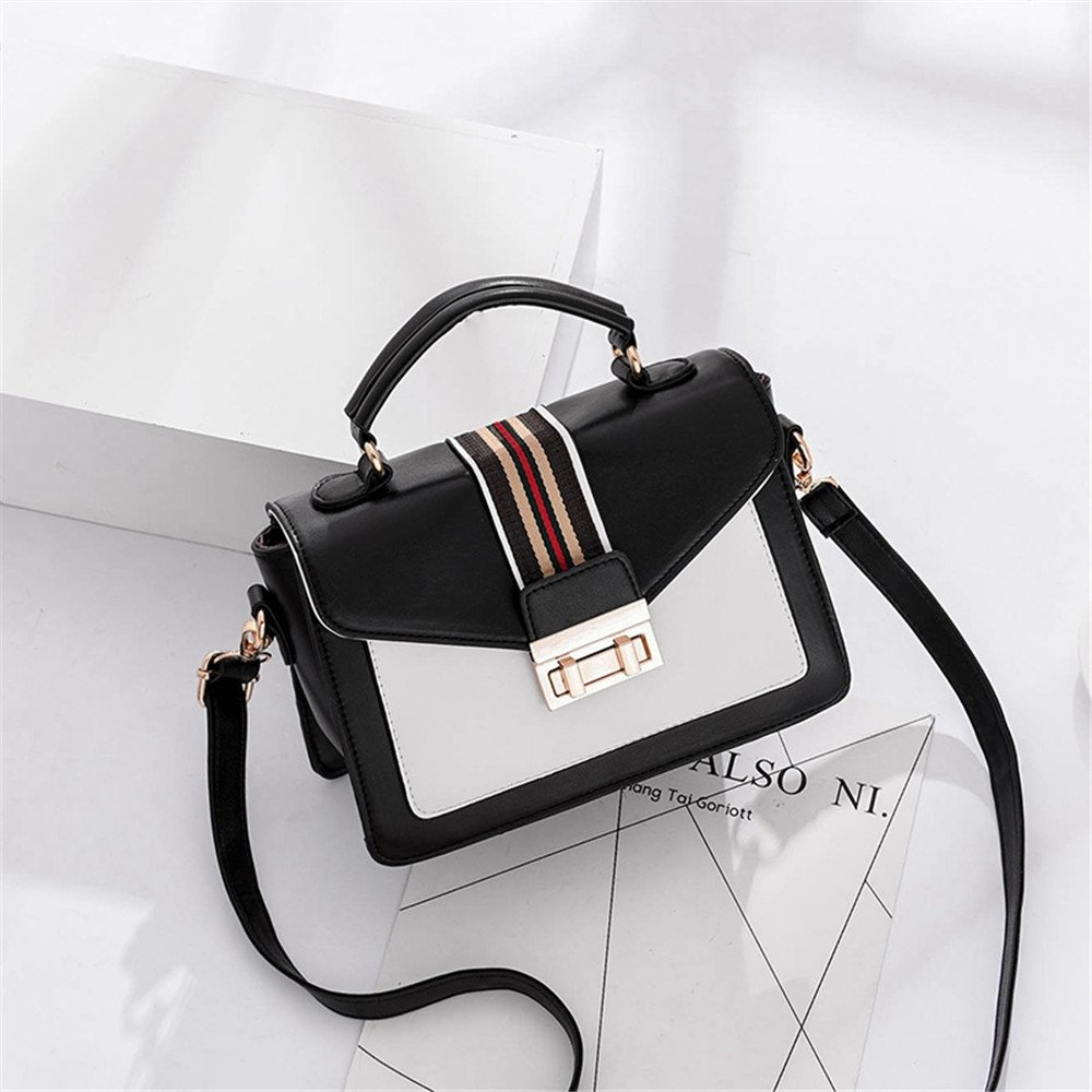 SJMMBB Ladies casual satchel fashion bag,gules,22X10X15CM