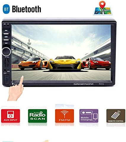"N6 7 /""HD Touchscreen Auto GPS Bluetooth Navigation MP5 FM AUX Radio Player"