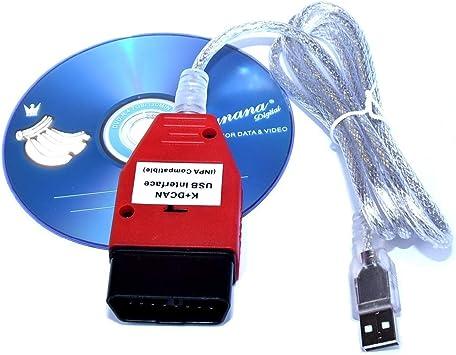 NewL Inpa K+Can K+DCAN Cavo di interfaccia USB OBD per BMW R56 E87 E93 E70