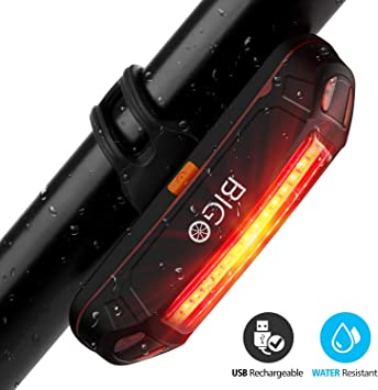 Luz Trasera para Bicicleta Recargable USB, Super Brillante Rojo ...