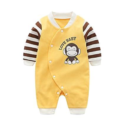 Bebé Niños Mono Mameluco - Pelele Bebé Pijamas Algodón Una Pieza Mameluco Mono Manga Larga Body